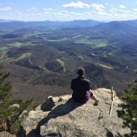 sw virginia hikes: Big and Little House Mountains, April 2 2016