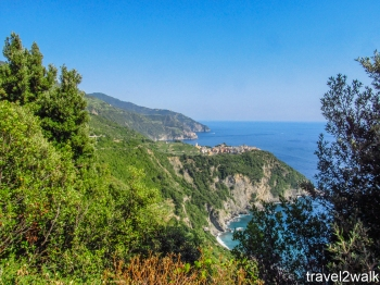 Corniglia from trail 2