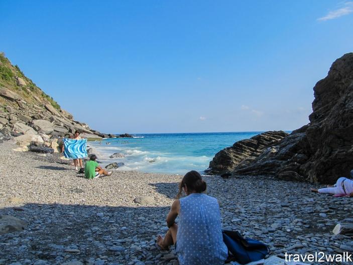 pebble beach in Vernazza