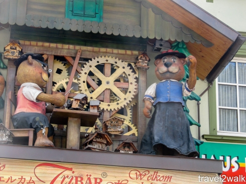 cuckoo clocks are a big thing in Black Forest