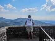 on top of the castle ruins in Baden Baden