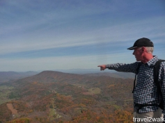Later in 2011, a group consisting of Christen, her Father, Drew, Lusha, and I through hiked from Andy Layne trailhead to Tinker's Cliff (where Christen's Father is pointing) to McAfee Knob and down to RT 311.