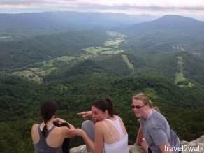 Meg and I lead Tashuana, Allie, and Puppyz up the mountain telling them we were 5 minutes from the top the entire way.