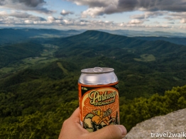 happy hour on the knob with a local brew (not sponsored)