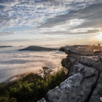 virginia hikes: McAfee Knob, September 24 & October 29, 2017