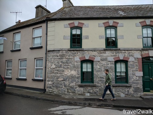 Kevin walking around the town of Cong