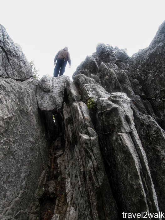 first time at Dragons Tooth during a 17 miles AT hike on September 25, 2011
