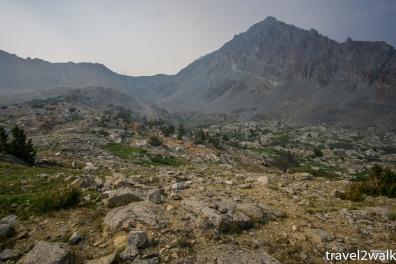 view back at Pinchot Pass