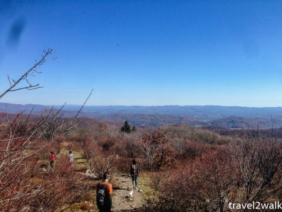 Kevin, Shannon, Tashuana, Meg, and I leaving Wilburn Ridge on a fall day in 2014.