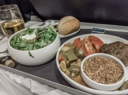 Dinner in business class on Aeromexico from MIA to MEX.