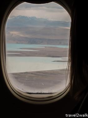 landing at El Calafate