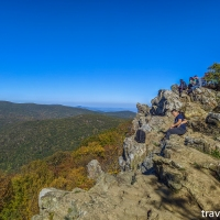 virginia hikes: Franklin Cliffs & Hawksbill Mountain loop, October 15 2019