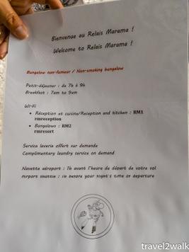 information at Relais Marama