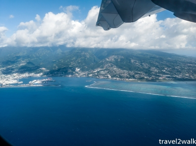 Papeete and the harbor from the air