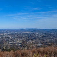 virginia hikes: Fort Lewis Mountain Tower Outlook via Angeline trailhead, March 8 2020