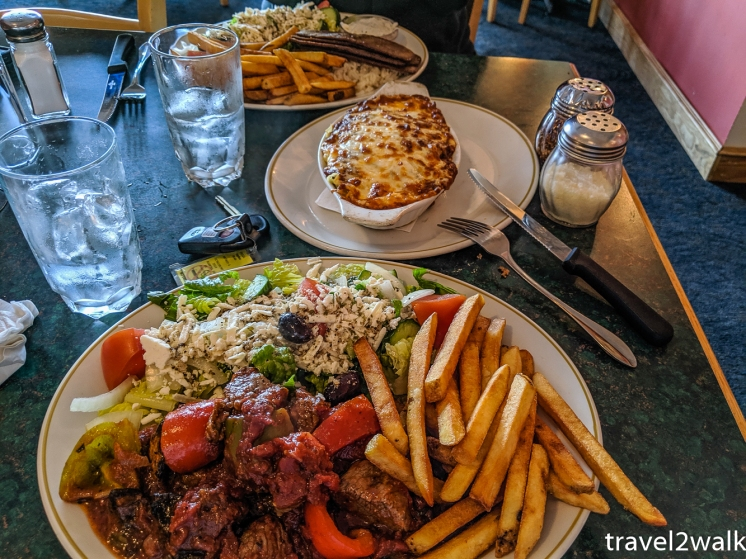 Our favorite restaurant in Hinton, AB is the greek Olympia Restaurant.