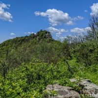 virginia hikes: Big Schloss, Mill Mountain, & Stony Creek loop, May 30 2020