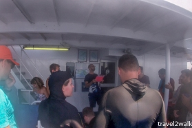 dive briefing on the second deck