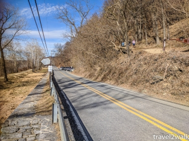 previous road side parking on Harpers Ferry Rd/Sandy Hook Rd in 2018