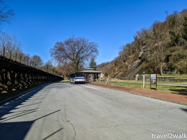 bus stop in Harpers Ferry